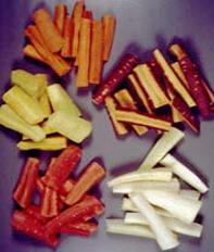 The five main colours of carrots
