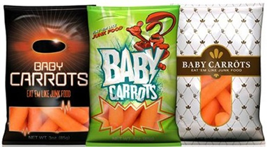 vending machine baby carrot bags
