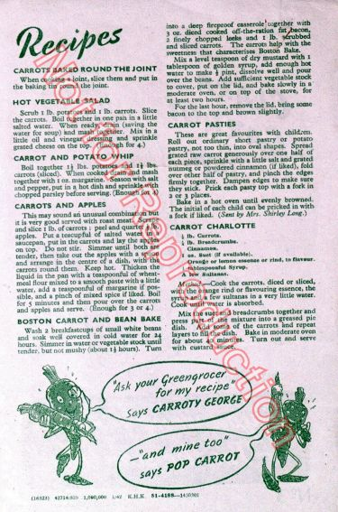 Disney Calra Carrot Recipes WW2