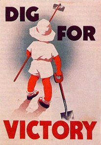 Dig for victory poster child