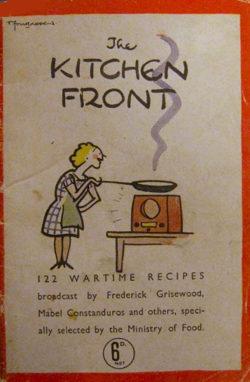 Front of Kitchen Front Recipe Book WW2