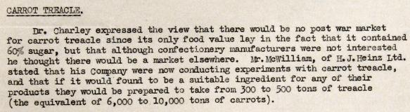 ww2 archive carrot treacle