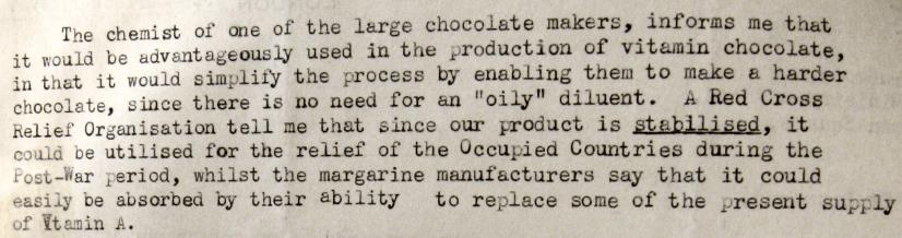 ww2 archive vitaminised chocolate
