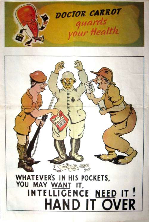 ww2 poster showing dr carrot