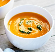 carrot soup with tops pesto