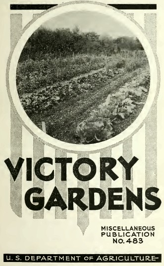 US Victory Gardens Book Frontispiece