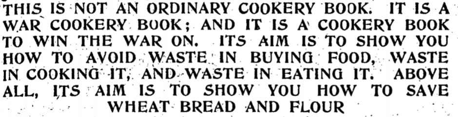 ww1 cookbook