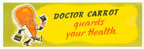 Doctor Carrot Guards your health poster