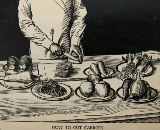 how to cut carrots - advice from Stork cookery book