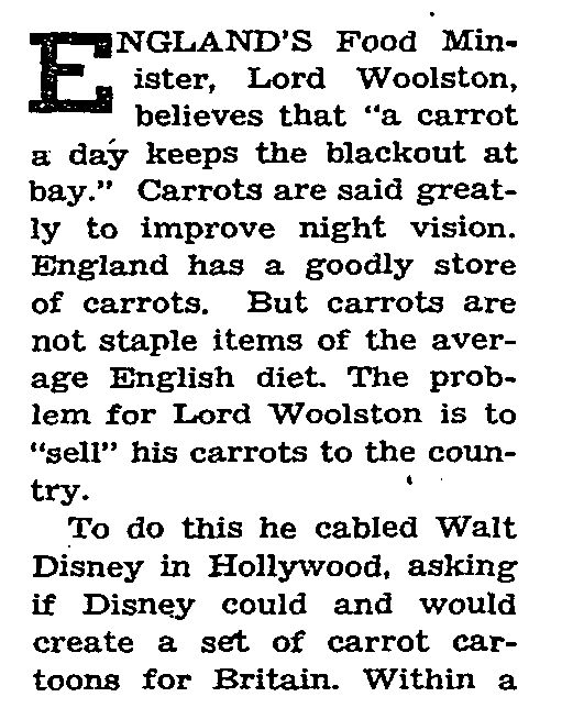 ww2 carroty george disney new york times